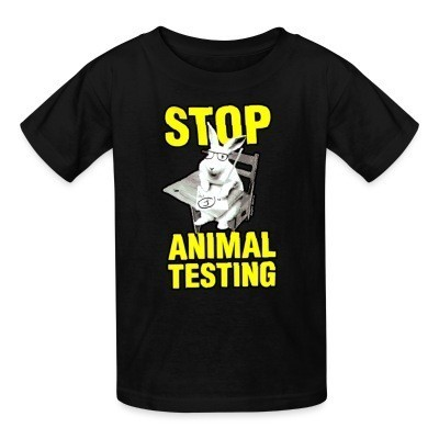 Kid tshirt Stop animal testing