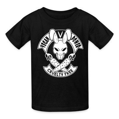 Kid tshirt Vegan power! Cruelty free