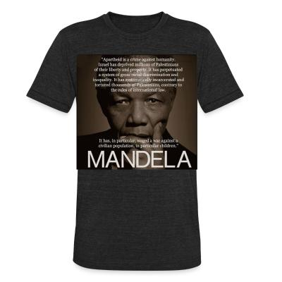 Local T-shirt Apartheid is a crime against humanity (Nelson Mandela)