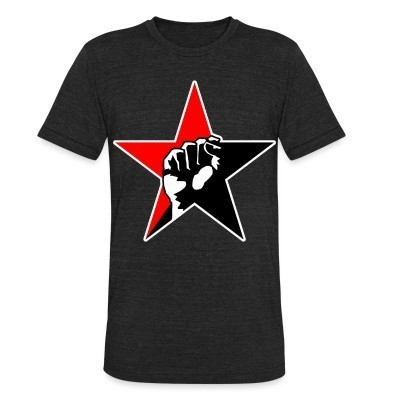 Local T-shirt Red & Black Raised Fist