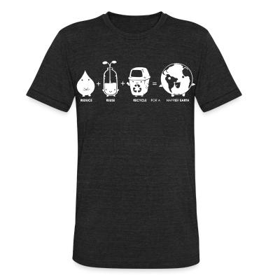 Local T-shirt Reduce + reuse + recycle = happier earth