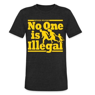 Local T-shirt Refugees welcome - no one is illegal
