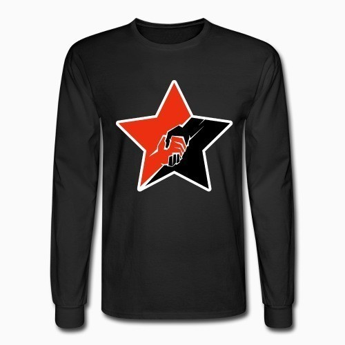 Long sleeves Anarcho-Communist Red & Black Star