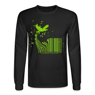 Long sleeves Barcode Bird