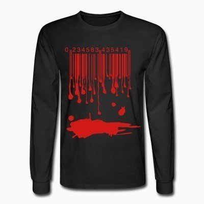 Long sleeves Barcode Blood