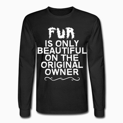 Long sleeves Fur is only beautiful on the original owner
