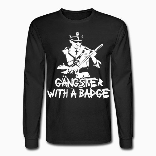 Long sleeves Gangster with a badge