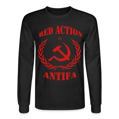 Long sleeves Red action antifa