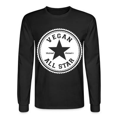 Long sleeves Vegan all star. Defend animals