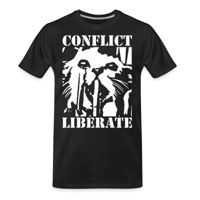 Organic T-shirt Conflict - liberate