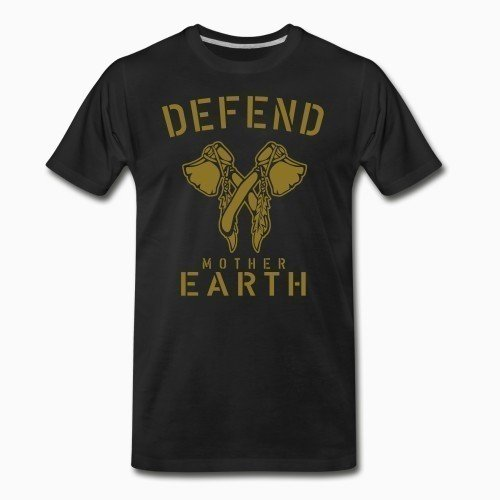 Organic T-shirt Defend mother earth