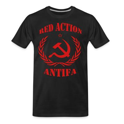 Organic T-shirt Red action antifa