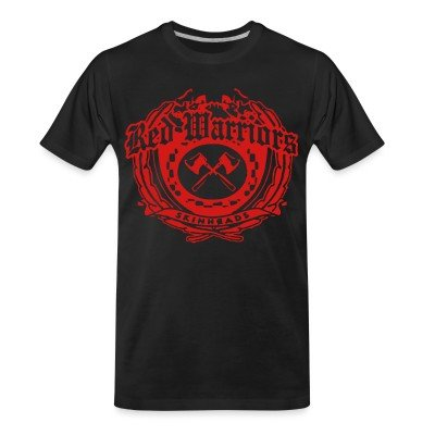 Organic T-shirt Red Warriors skinheads