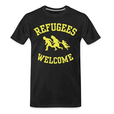Organic T-shirt Refugees welcome