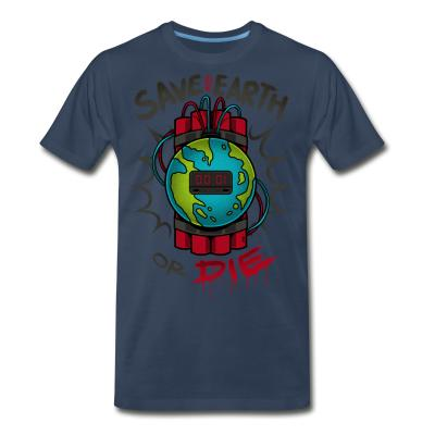 Organic T-shirt Save the earth or die