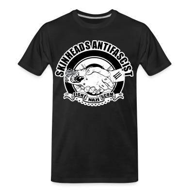 Organic T-shirt Skinheads antifascist - fight nazi scum