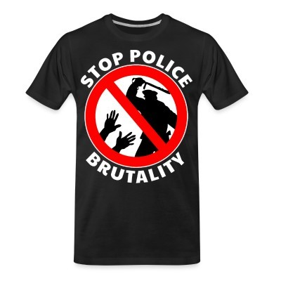 Organic T-shirt Stop police brutality