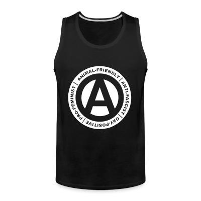 Tank top Animal-friendly / anti-fascist / gay-positive / pro-feminist