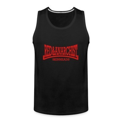 Tank top Red & anarchist skinheads