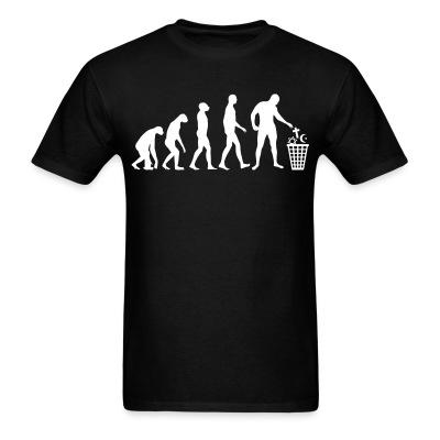 T-shirt Atheist evolution