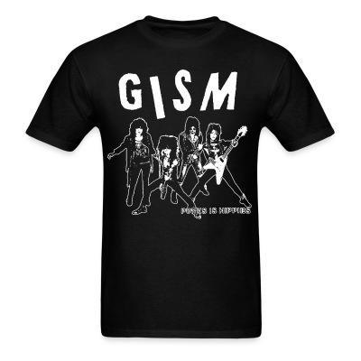 T-shirt GISM - punks is hippies