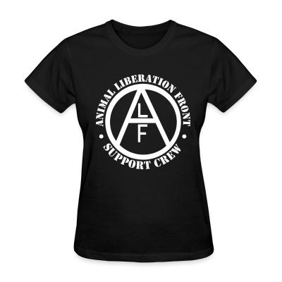 Women T-shirt ALF Animal Liberation Front support crew