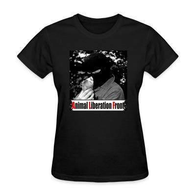Women T-shirt Animal Liberation Front