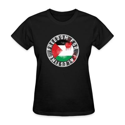 Women T-shirt Freedom for palestine