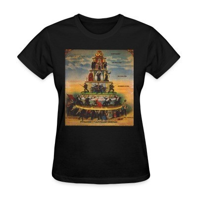 Women T-shirt Pyramid of capitalist system