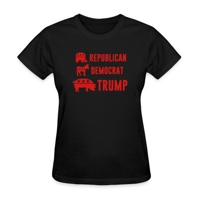 Women T-shirt republican democrat trump