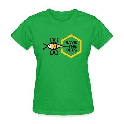 Women T-shirt Save the bees