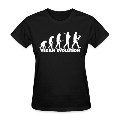 Women T-shirt Vegan evolution