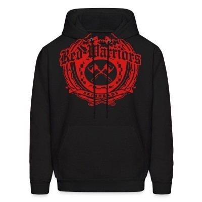 Hoodie Red Warriors skinheads