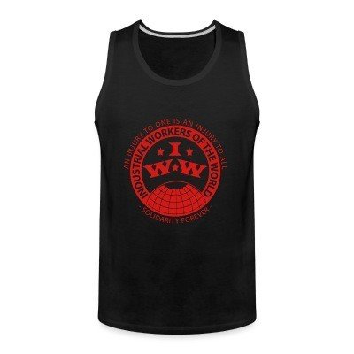 Tank top IWW - Industrial Workers of the World - an injury to one is an injury to all - solidarity forever