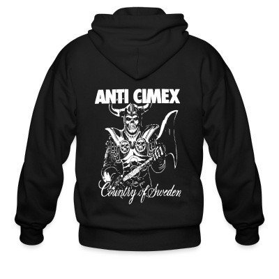 Zip hoodie Anti Cimex - Country of Sweden
