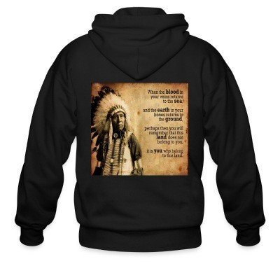 Zip hoodie This land does not belong to you, it is you who belong to this land