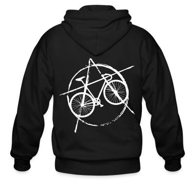 Zip hoodie Anarcho-cyclist
