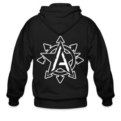 Zip hoodie Anarchy Chaos