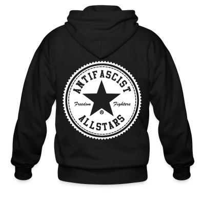 Zip hoodie Antifascist allstars - freedom fighters