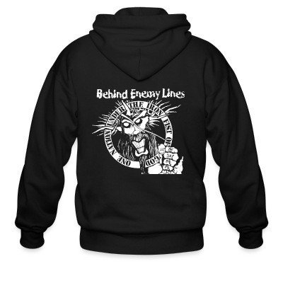 Zip hoodie Behind Enemy Lines - One nation under the iron fist of god