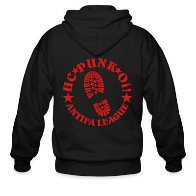 Zip hoodie HC punk oi! Antifa league