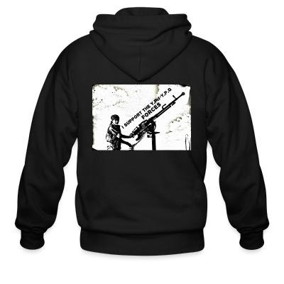 Zip hoodie I support the YPJ-YPG forces