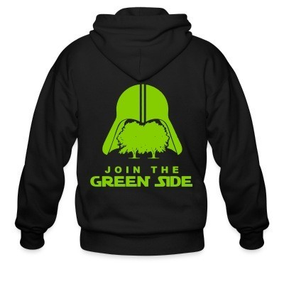 Zip hoodie Join the green side