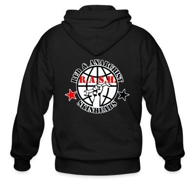 Zip hoodie R.A.S.H. Red & Anarchist Skinheads