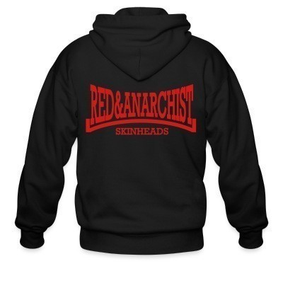 Zip hoodie Red & anarchist skinheads