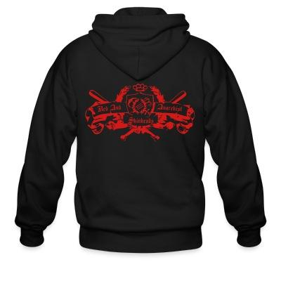 Zip hoodie Red and anarchist skinheads