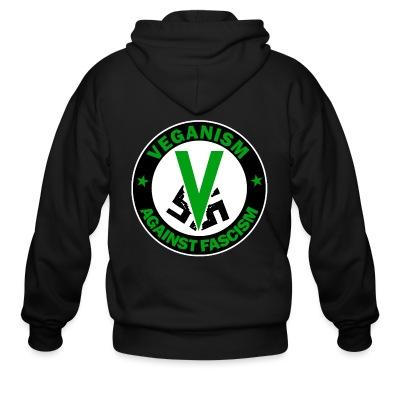 Zip hoodie Veganism against fascism
