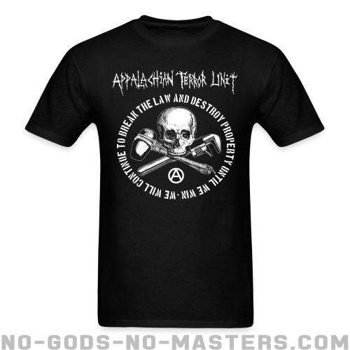 Camisetas para hombre Appalachian Terror Unit - We will continue to break the law and destroy property until we win -