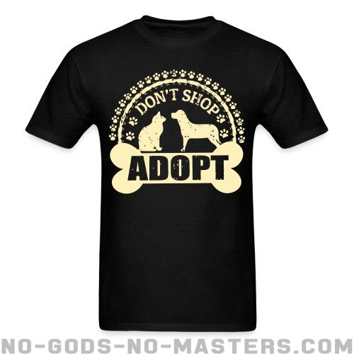 Standard t-shirt (unisex) Don\'t shop adopt - Animal liberation