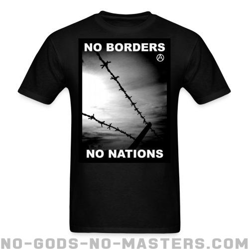 T-shirt ♂ No borders no nations - Politics & revolution